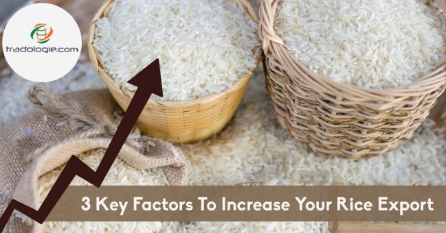 3 key factors to increase your rice export
