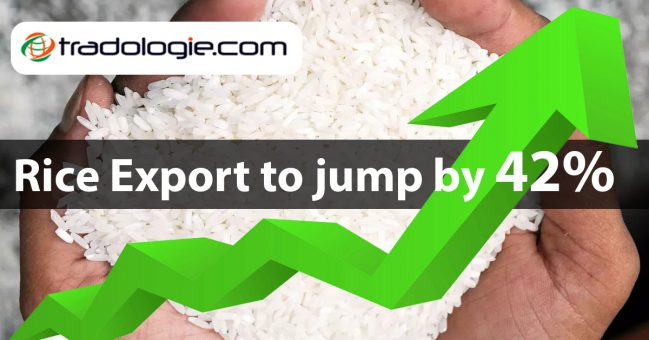 India could record a 42% jump in rice export