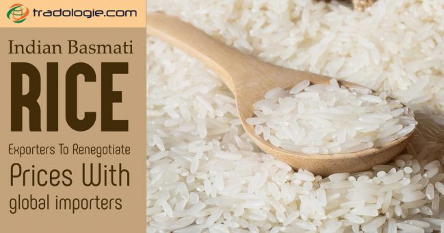 Indian Basmati rice exporters to renegotiate prices with global importers